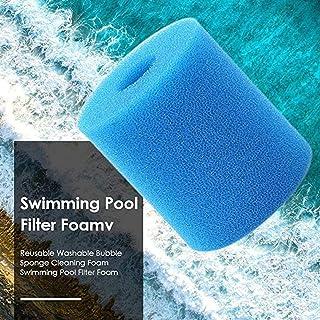 Pack de 2 esponjas para filtro de piscina, cartuchos de filtro de espuma para piscina Intex tipo H, esponja, cartuchos de filtro de piscina, reutilizable y lavable