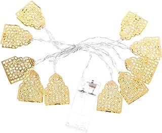 FRCOLOR Muslim Eid String Light Eid Mubarak String Lamp LED Curtain Lights Golden Castle Fairy String Lights for Lasser Ba...