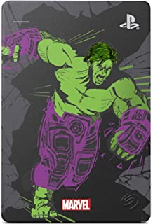 Seagate Game Drive for PS4 Marvel's Avengers LE - Hulk 2TB External Hard Drive - USB 3.0, Metallic Gray, Officially Licens...