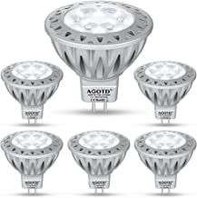 AGOTD GU5.3 MR16 Ledlapen - 12V Warm wit 7W, 50W GU5.3 Halogeenlamp Equivalent, 7 Watt GU 5.3-fittinglampen, Geen Flikkeri...