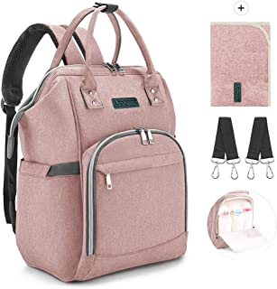 Upgent Backpack, Outdoor Travel Laptop Handbag with 2 Stroller Straps, Waterproof and Large Capacity