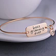 Best Grammy Ever Bangle Bracelet, Gold Grammy Jewelry, Christmas Gift for Grammy