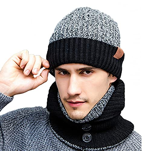 00a39b8edce K-mover 3-Pieces Winter Knit Hat Set Warm Beanie Hat + Scarf +