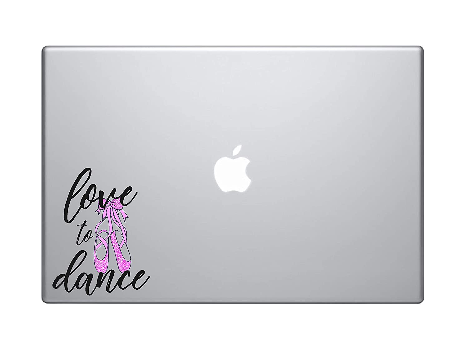 Laptop Notebook Sticker Decal - Love to Dance Ballet Shoes Inspirational Helpful - Skins Stickers