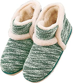 Garatia Winter Vintage Boot Womens Slippers Arctic Solid Indoor Outdoor House Shoes Green Size: 8-8.5