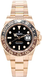Rolex GMT-Master II 126715 18K Rose Gold Watch Black Dial Black and Brown Rotatable Bezel UNWORN