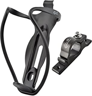 Lumintrail Ultra Lightweight Aluminum Alloy Bike Bicycle Water Bottle Cage Holder with Handlebar Mount Bracket (1 or 2 Pack)
