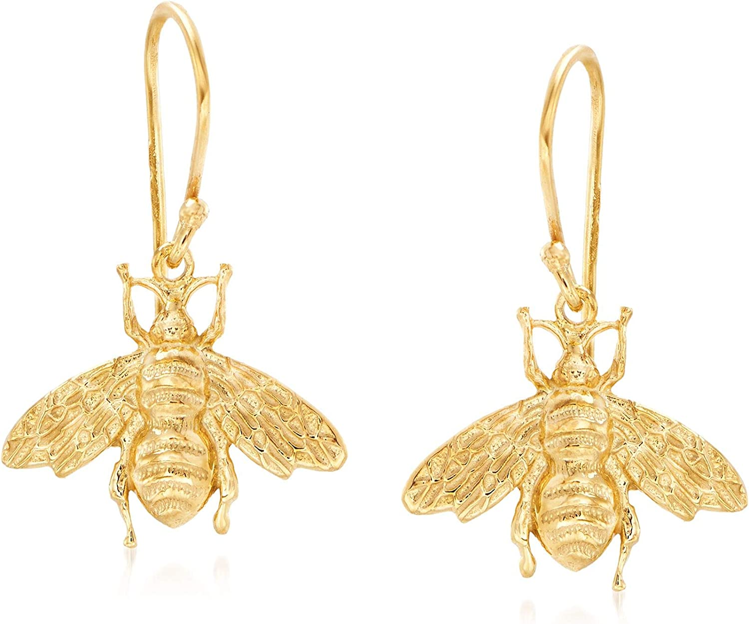 Ross-Simons Italian Gorgeous 18kt Yellow Gold Silver Sales for sale Over Sterling Dr Bee