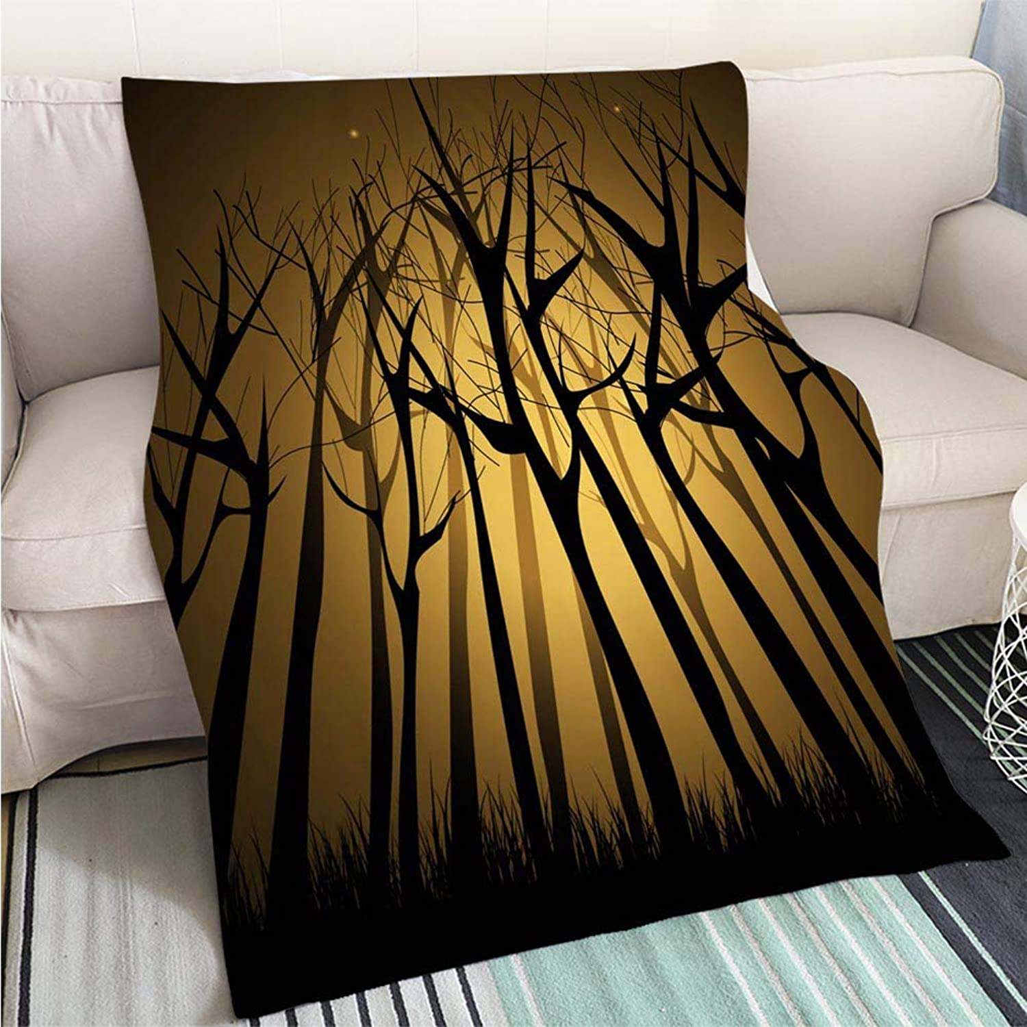 Luxury Super Soft Blanket Magic Forest Perfect for Couch Sofa or Bed Cool Quilt