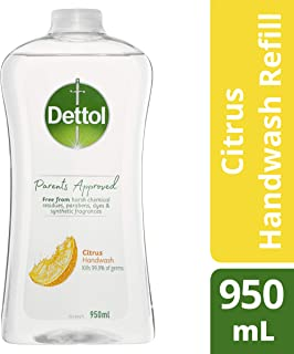 Dettol Parents Approved Hand Wash Citrus Refill, 950ml