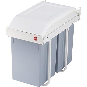 Quellmalz Cocina cubo de basura empotrable 1/x 16/L mano extra/íble con autom/ática de la tapa palanca armario ancho de 30/cm