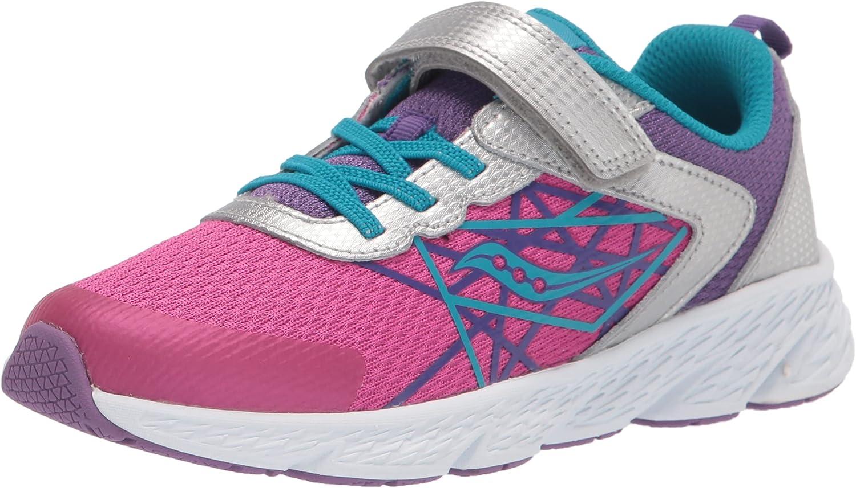 Saucony Unisex-Child Wind Alternative Closure Running Shoe