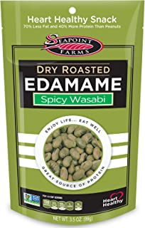 Seapoint Farms, Dry Roasted Edamame, Spicy Wasabi, 3.5 oz (99 g) - 2PC