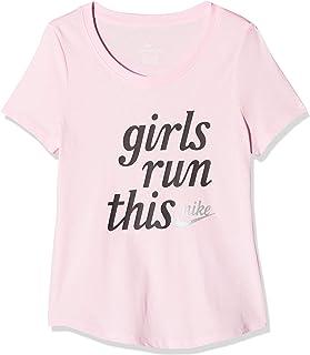 تي شيرت من Nike G Nsw للفتيات مطبوع عليه Run This