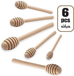 Honey Dipper   Pack of 6 Honey Spoon   Wood Honey Dipper Sticks Stirrer for Honey Jar Dispenser
