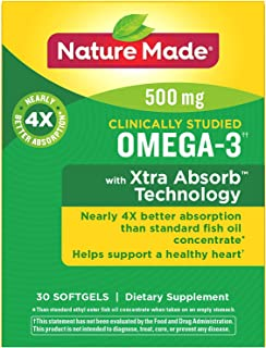 Nature Made Omega-3 Xtra Absorb Fish Oil, 30 Softgels (Pack of 2)