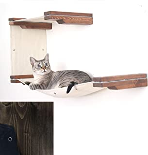 CatastrophiCreations Cat Mod Double Decker Wall-Mounted Hammock Lounger Shelving for Cats