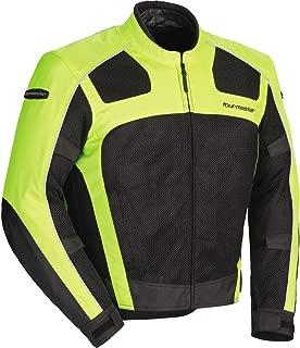 Tour Master Draft Air Series 3 Men's Textile Sports Bike Racing Motorcycle Jacket - Hi-Viz/Black/Large
