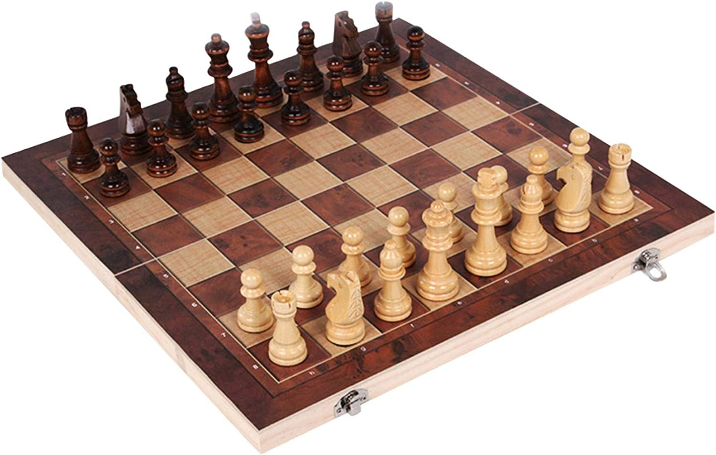 YEYUTF Wooden Chess Set Weekly update 3 in 5 ☆ popular Edu Folding Game 1 Board