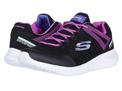 SKECHERS KIDS Sport Ultra Flex Rainy Day 81538L (Little Kid/Big Kid) (Black/Hot Pink) Girls Shoes