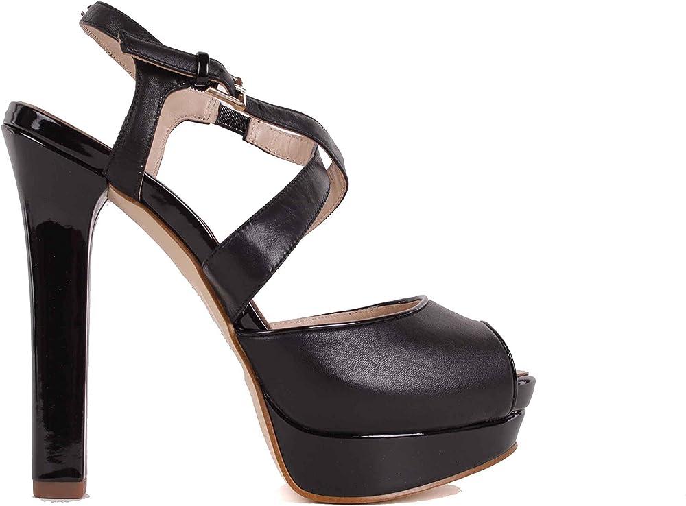 Versace,scarpe con il tacco a spillo per donna,in pelle al 100 %,numero 39 eu Bs26