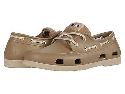 Crocs Classic Boat Shoe (Khaki/Cobblestone) Men