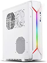 SilverStone Technology Slim Computer Case for Mini-Itx Motherboards with Integrated Addressable RGB Lighting SST-RVZ03BW-ARGB