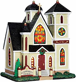 Lemax Christmas Village - St Margarets Church lighted Building