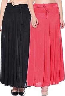 Mixcult Dam kombination med 2 st enfärgade crepe utsvängda kjolar i full längd