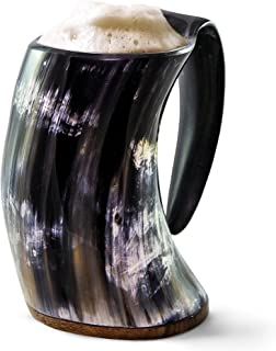 Norse Tradesman Original Viking Drinking Horn Mug – 100% Authentic Beer Horn..