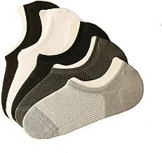6 Pairs Men Short Ankle Socks Invisible Bamboo Fiber Mesh Socks Casual Solid Thin