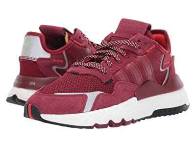 adidas Originals Kids Nite Jogger (Big Kid) (Burgundy/White) Boy