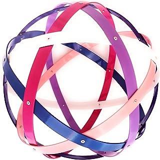 Pentasfera (genesa 6 cerchi), Purificatore energia, 32 cm diametro, fucsia, bianco, viola, azzurro, blu