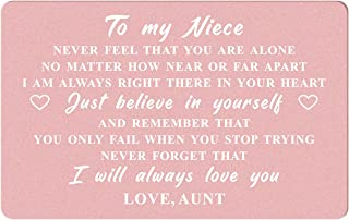 Niece Gifts from Auntie, I Love My Niece Gifts, Niece Wedding Gifts from Aunt, Niece Birthday Card, Niece Long Distance, G...