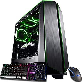 CUK Mantis Custom Gaming PC (Liquid Cooled Intel i7-9700KF, 32GB RAM, 1TB NVMe SSD + 2TB HDD,...