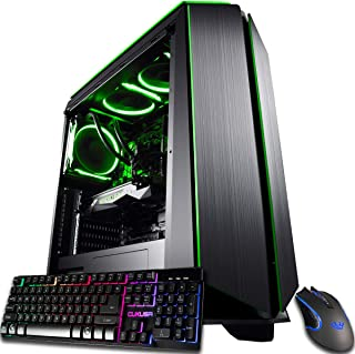 CUK Mantis Gaming PC (Liquid Cooled Intel Core i9-9900KF, NVIDIA GeForce RTX 2080 Ti 11GB, 64GB RAM, 1TB NVMe SSD + 2TB, 750W Gold PSU, Z390 Motherboard) Best Tower Desktop Computer for Gamers