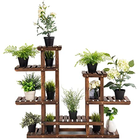 SANHOC Bois Fleur Rack Plante Stand /étag/ères Bonsai Affichage /étag/ère Ext/érieur Int/érieur Cour Jardin Terrasse Balcon JARDINI/ÈRES /étag/ères des Plantes 12