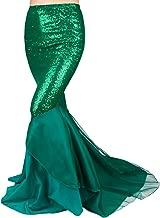 iEFiEL Womens Flattering Sequin Asymmetric Tail Skirt Princess Party Costume Dress