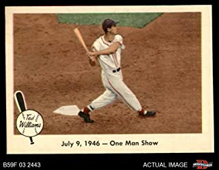 1959 Fleer # 27 One Man Show Ted Williams Boston Red Sox (Baseball Card) Dean's Cards 7 - NM Red Sox