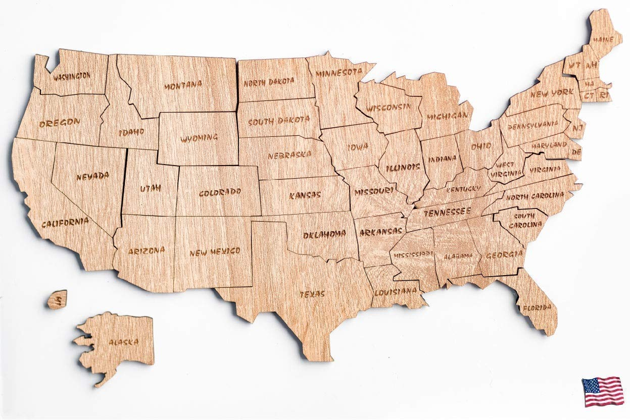 puzzle USA Arlington Mall map United States of Laser 50 Puzzle America Cut Max 90% OFF sta