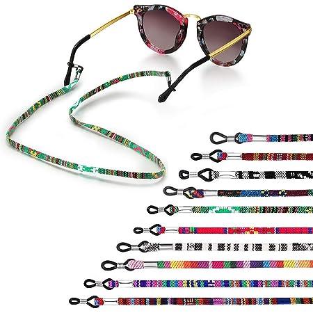 Eariy 5//10 St/ück Gesichtsbandanas Brillenketten Brillenband Halter Halskette Brillenkette Verstellbare L/änge Gesichtsschutz Lanyard Bequem Langlebig f/ür Erwachsene /& Kinder