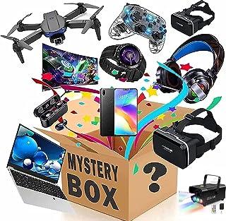 Eletrônico Mystery Box,Contém 2-4PCS Unopened Mystery Box Electronics,Lucky Box,Como:relógios inteligentes,fones de ouvido...