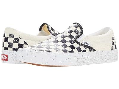 Vans Classic Slip-On ((Confetti) Black/True White) Skate Shoes