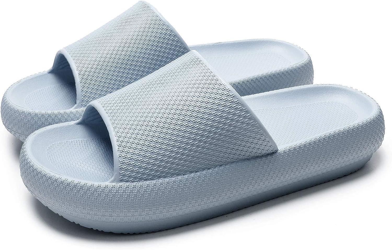 Shower Slippers Non-Slip EVA Bath Slippers High Platform Open Toe Slipper for Men and Women