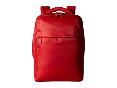 Lipault Paris Plume Business Laptop Backpack M (Cherry Red) Backpack Bags