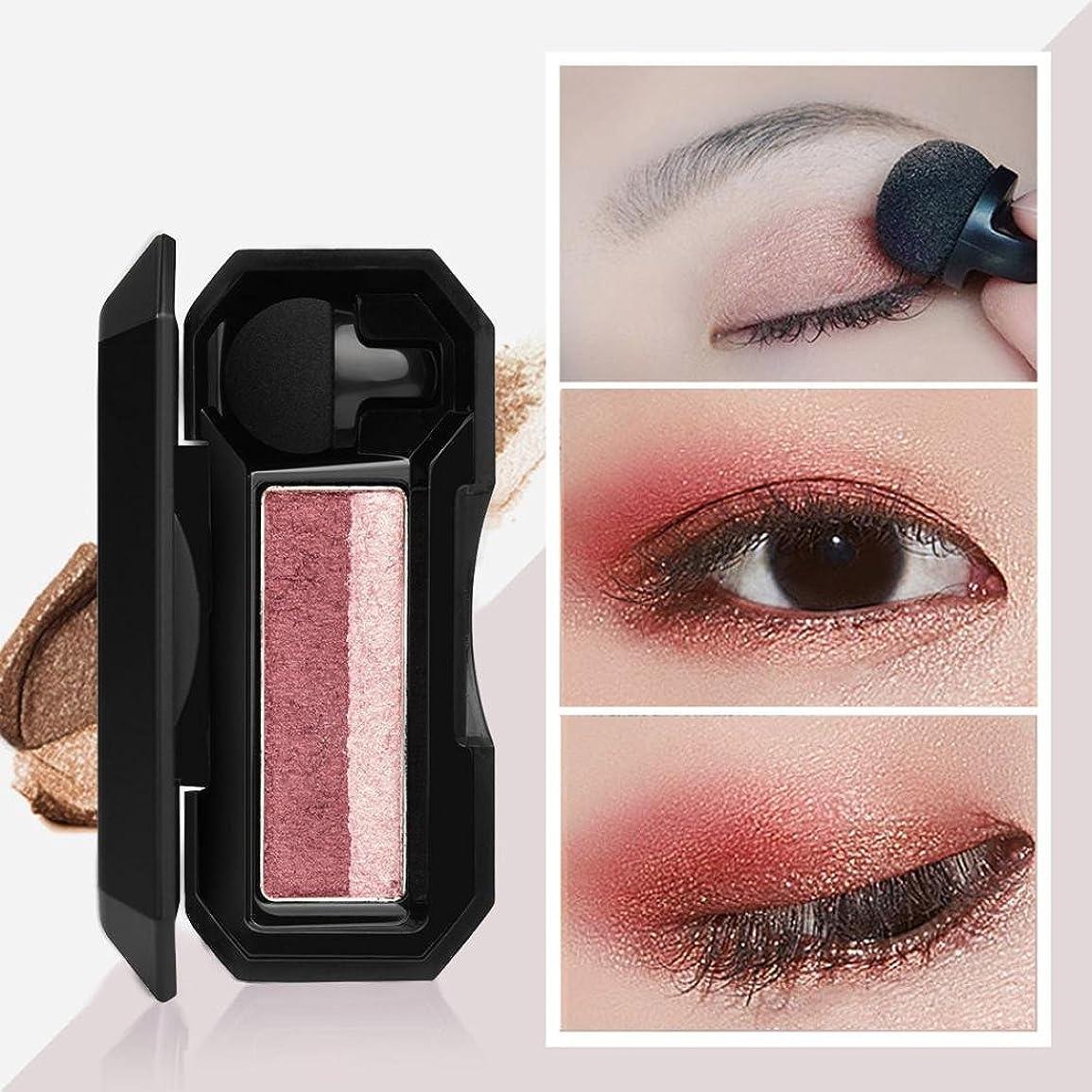 秀でる再生的実現可能ビューティー アイシャドー BOBOGOJP 女性 2色 可愛い デザイン ミニスタンプアイシャドーパレット 携帯便利 極め細かい 化粧パウダー 持続性 スモーキーメイク (21C)
