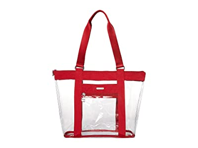 Baggallini Clear Event Compliant Tote (Red) Handbags