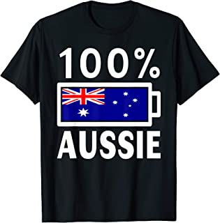 Australia Flag | 100% Aussie Battery Power Tee T-Shirt