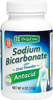 De La Cruz Pure Sodium Bicarbonate, USP Grade, Antacid Powder, Packed in USA 4 OZ
