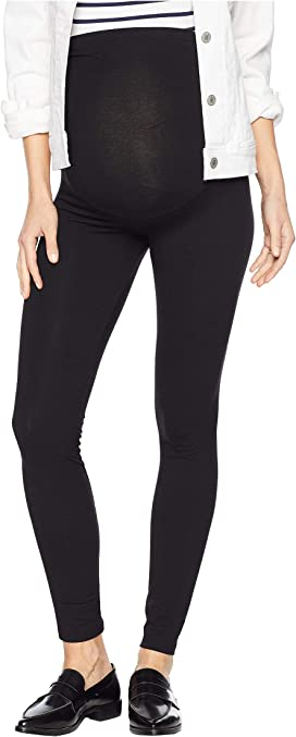 b40d1d7926f5d Plush Maternity Fleece-Lined Cotton Over-Belly Leggings at Zappos.com